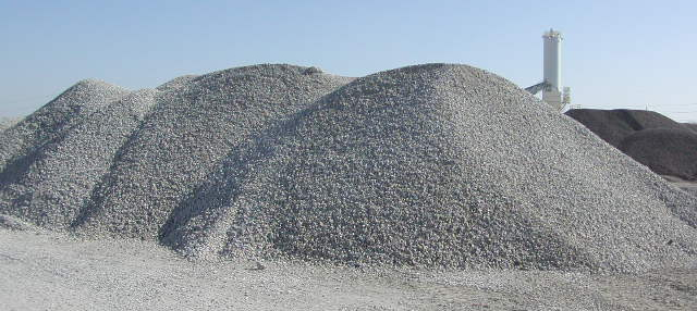 Crushed Granite Gravel : Crushed stone dump truck delivery